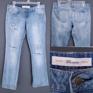 BLUENOTES Skinny Boot Cut Jeans Distressed Low 29